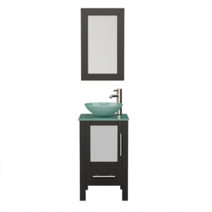 8137B Espresso Vanity Set w/Brushed Nickel Faucet