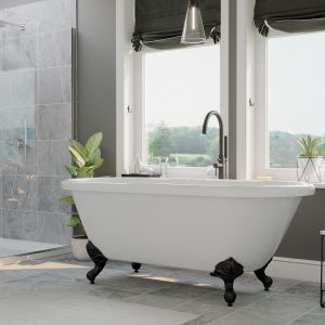 dual end, acrylic, bathtub, clawfoot tub,