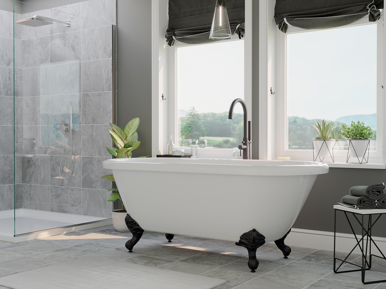 dual end, acrylic, bathtub, clawfoot tub,