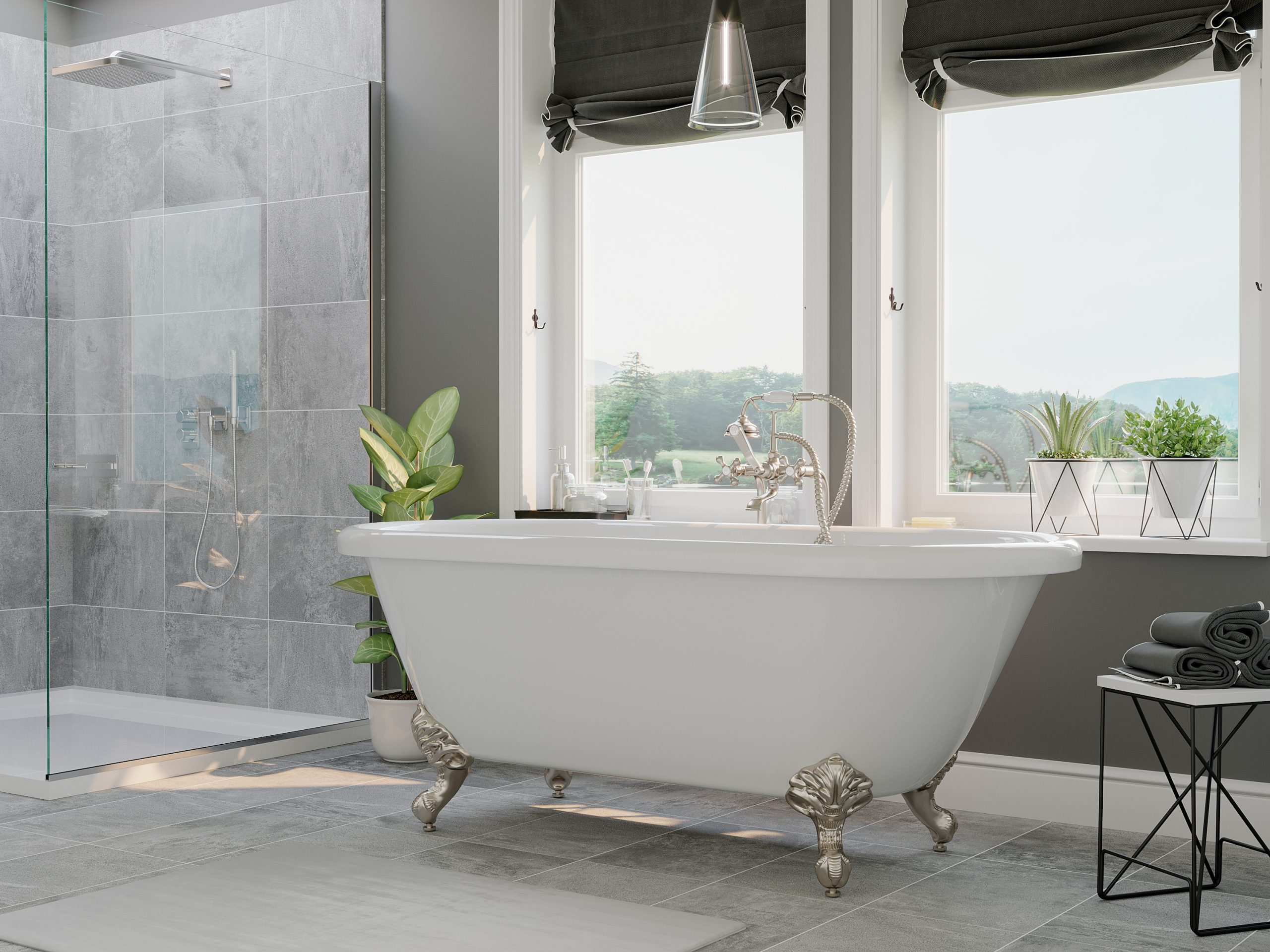 acrylic double ended tub, clawfoot tub,