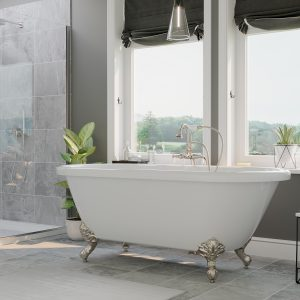 acrylic, double end tub, clawfoot tub,