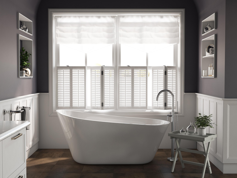 67 inch white acrylic freestanding single slipper bathtub