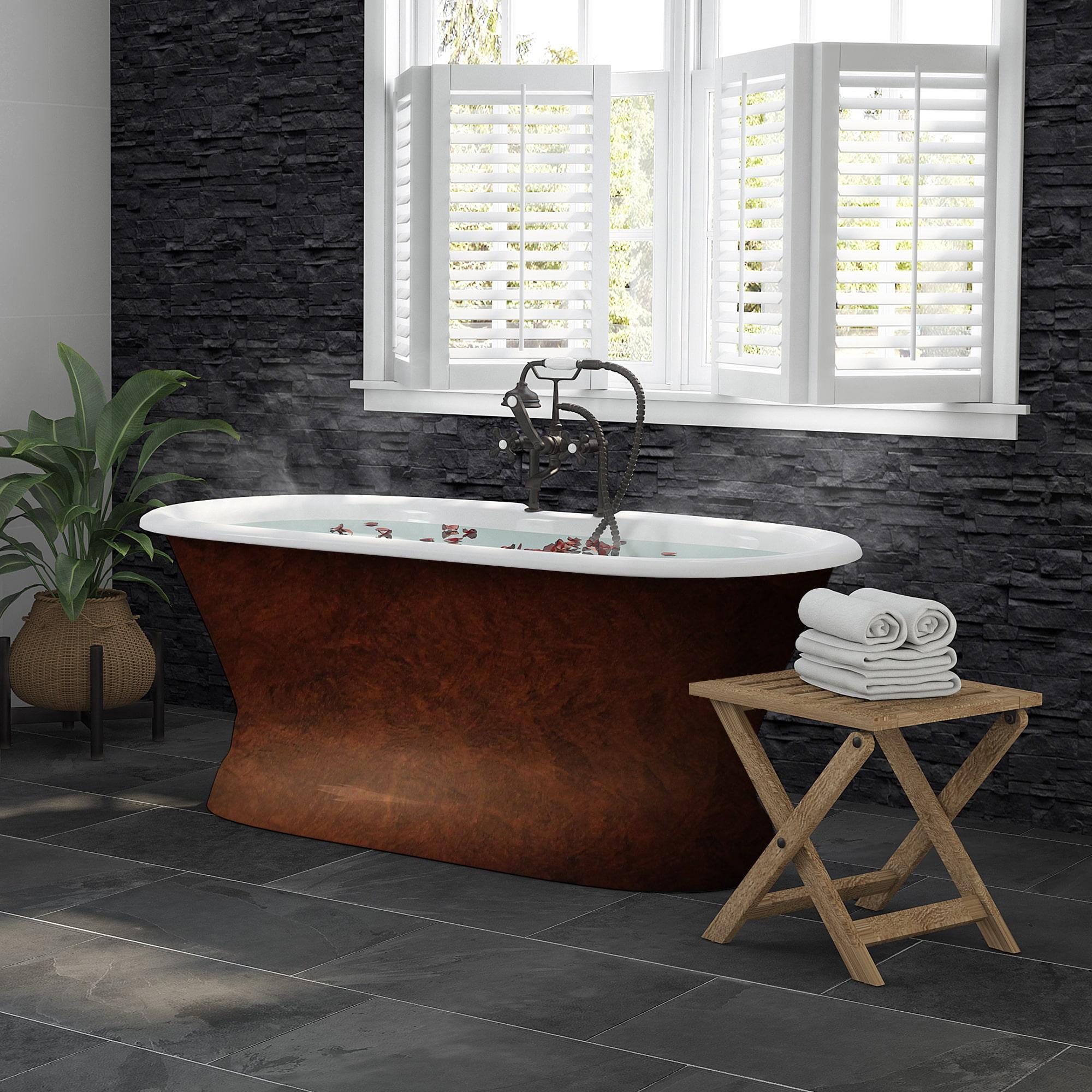 copper bronze, cast iron, double ended, pedestal tub,