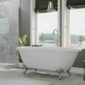 clawfoot tub, acrylic double ended tub,