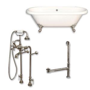acrylic, dual end, tub, faucet pkg,