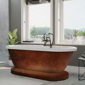 clawfoot tubs, faux copper,