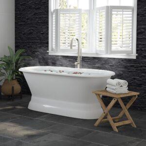 cast iron bathtub, double end tub, pedestal tub,