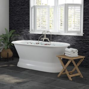 bathtub, cast iron, pedestal, double ended tub,