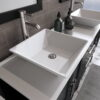 8119F_BN_3 Espresso Double Porcelain Vessel Sink Vanity Set
