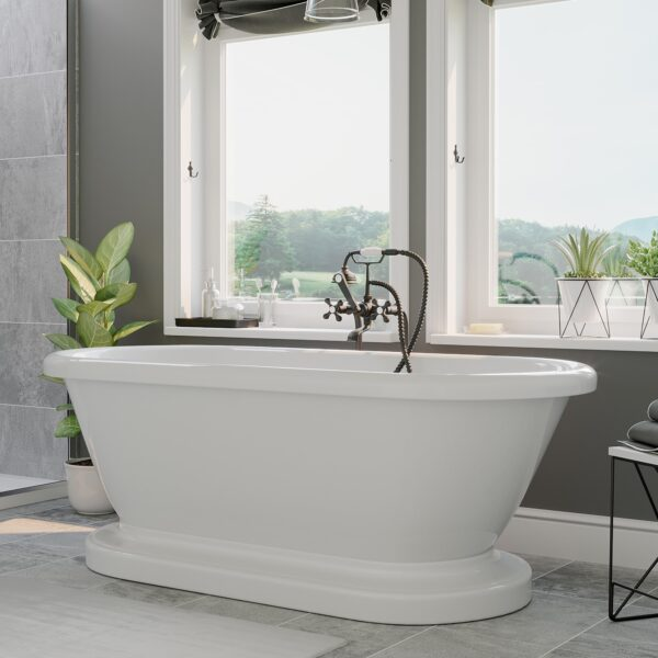 acrylic, double ended, pedestal tub,