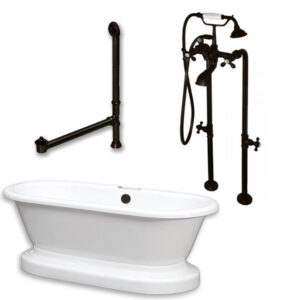 acrylic, double ended, pedestal tub, freestanding tub filler,