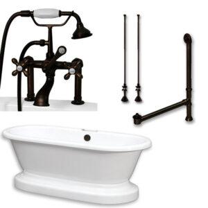 acrylic, dual end, pedestal tub, telephone faucet,