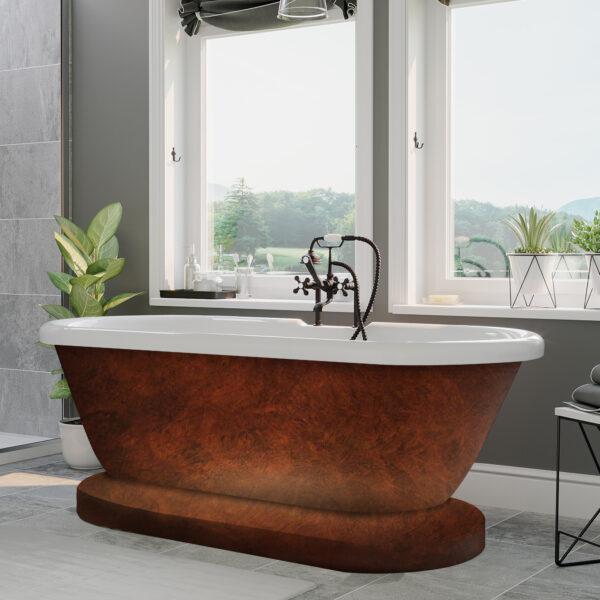 acrylic tub, double ended tub,