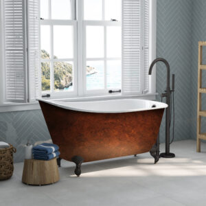 cast iron, swedish soaker tub, clawfoot tub,