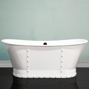 cast iron, double slipper, pedestal tub,