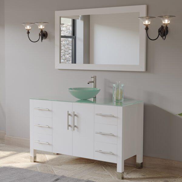 8116BW-BN white vanity