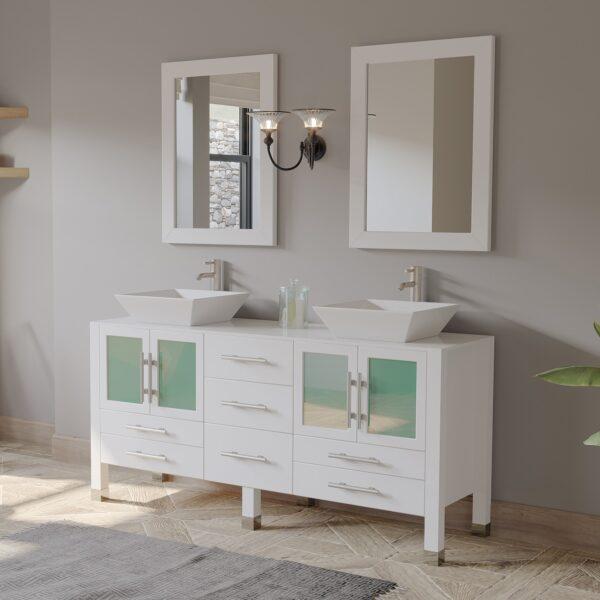white vanity, bathroom vanity