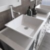 8119WF_CP_3 White Double Porcelain Vessel Sink Vanity Set