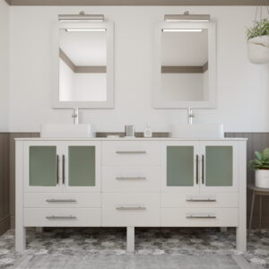8119XLW White XL Vanity Set