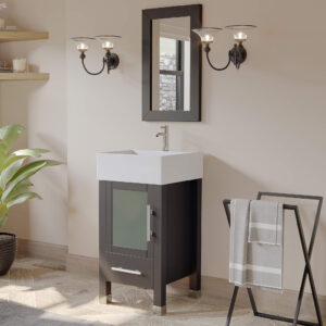 bathroom vanity set, espresso single vessel sink vanity,