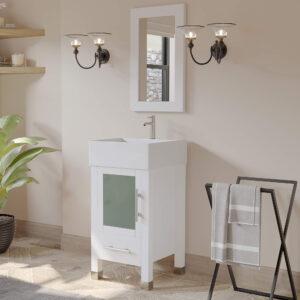 white bathroom vanity set,