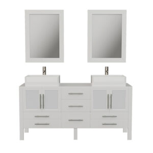 8119WXL White Bathroom Vanity Set w/Brushed Nickel Faucets