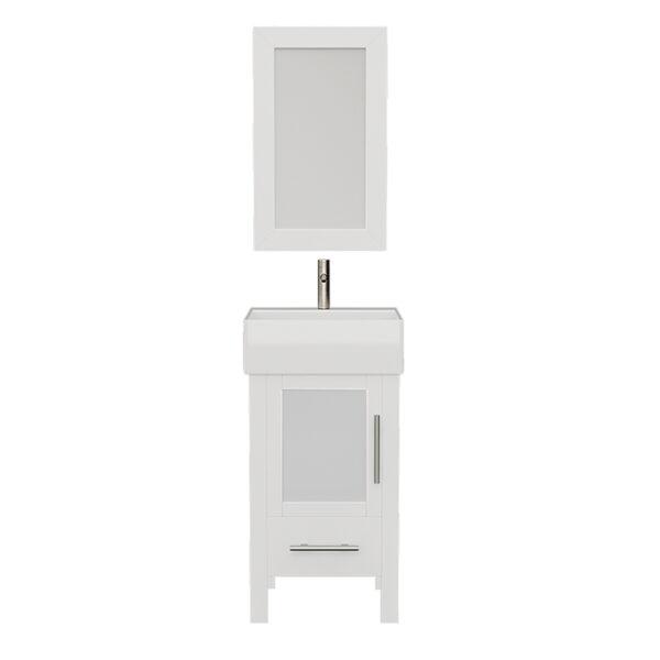 8137W White Vanity Set w/Brushed Nickel Faucet