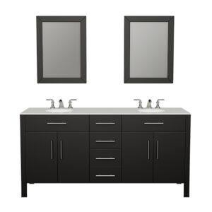 8162 Espresso Vanity w/Mirrors