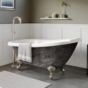 acrylic tub, clawfoot tub, slipper tub, scorched platinum finish, 05