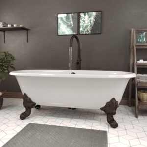 Cast Iron Double Ended Clawfoot Tub DE72-150-ORB