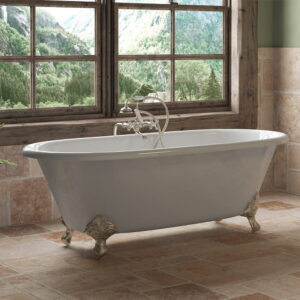 cast iron, clawfoot tub, double ended tub, tub and faucet pkg, 06