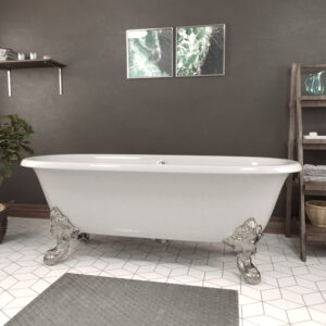 Cast Iron Clawfoot Double Ended Tub DE72_BN