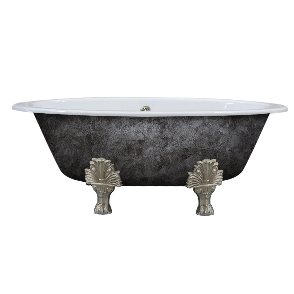 cast iron, double ended, lion paw, clawfoot tub,