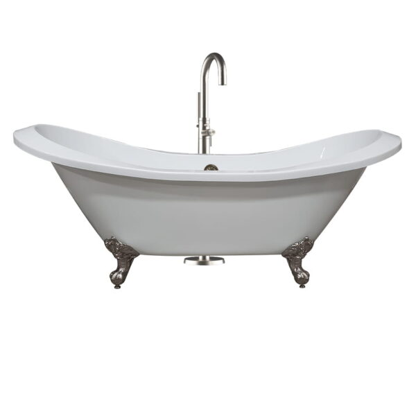 acrylic tub, double slipper tub, clawfoot tub, 01