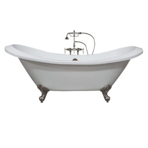 acrylic tub, double slipper tub, clawfoot tub,
