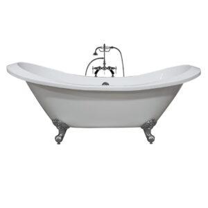 double slipper tub, clawfoot tub, acrylic tub, 01