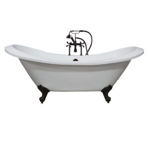 double slipper tub, clawfoot tub, acrylic tub, 01