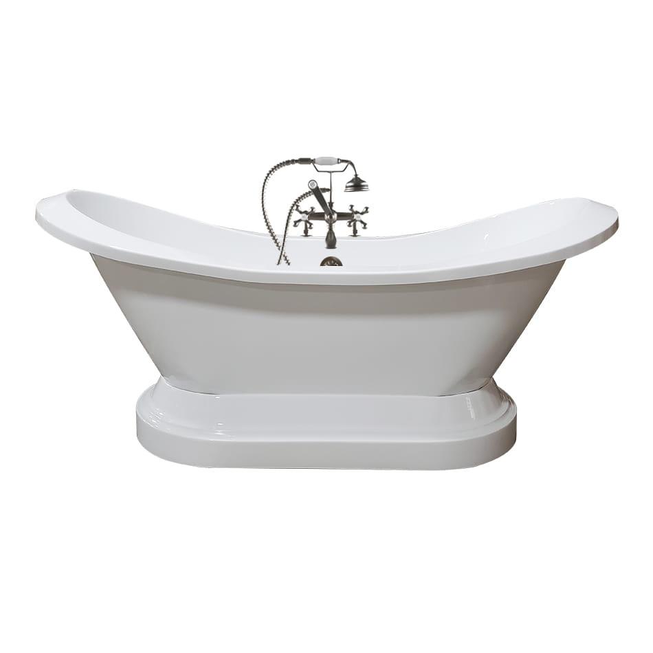 acrylic tub, double slipper tub, pedestal tub,