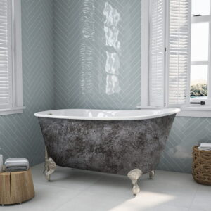 "58"" Swedish Tub w/Scorched Platinum Finish & bn clawfeet 01"