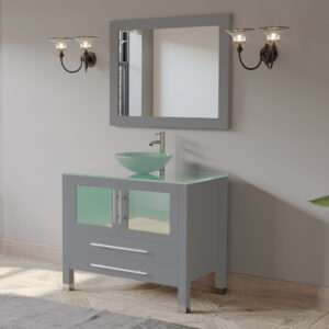 grey vanity. bathroom vanity, single vessel sink vanity 01
