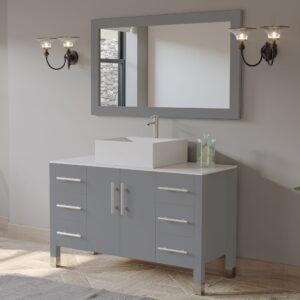 grey bathroom vanity set, 02