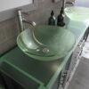 Gray Double Sink Vanity Set 8119BG-BN-3