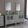 Gray Double Vessel Sink Bathroom Vanity Set 8119BG_CP_1