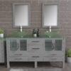 8119BG_CP-2-Gray Double Vessel Sink Bathroom Vanity Set