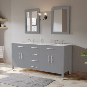 dual sink bathroom vanity in grey 07