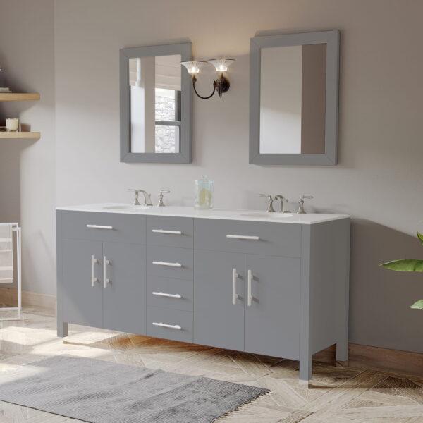 dual sink bathroom vanity in grey 07