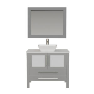 8111G Gray Vanity Set w/Brushed Nickel Faucet