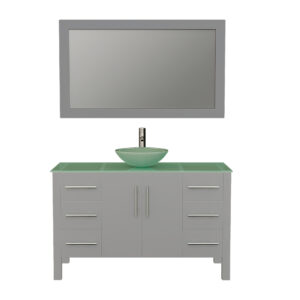 8116BG Gray Vanity Set w/Brushed Nickel Faucet
