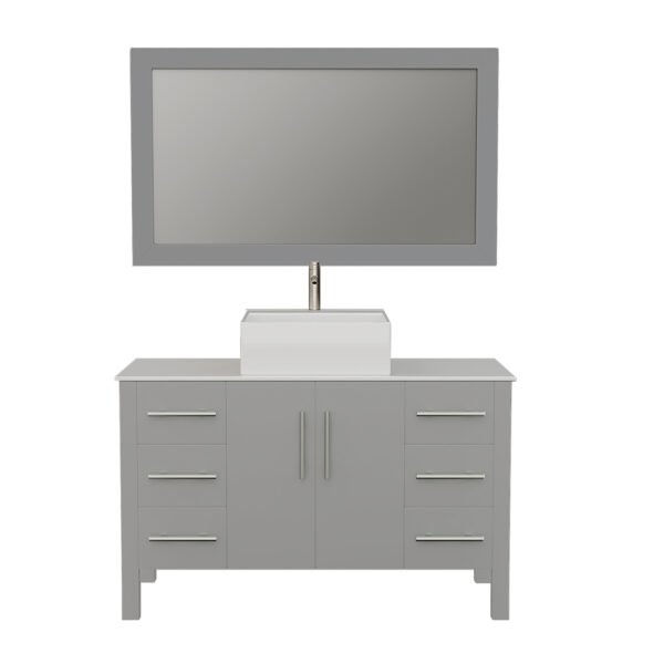 8116G Gray Vanity Set w/Brushed Nickel Faucet