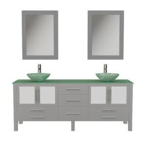 8119BXLG Gray Vanity w/Mirrors